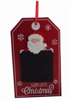 COUNTDOWN TO CHRISTMAS 'SLEEPS UNTIL... DAYS' WOODEN HANGING SIGN PLAQUE CHALK WAS £4.45